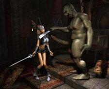 3d Monster Warrior Princess