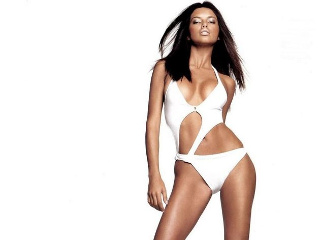 Adriana Lima Sexy White Bikini