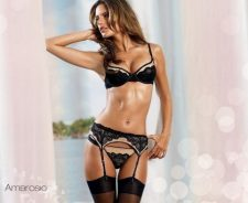 Alessandra Ambrosio Black Sexy Bikini