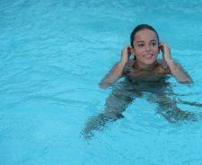 Alizee In Swimming Pool