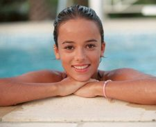 Alizee Out Of Swimming Pool