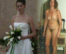 Amateur Dressed Undressed Brides