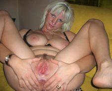 Amateur Mature Blonde Spread Pussy