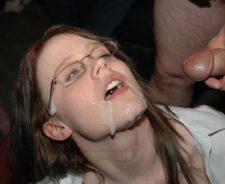 Amateur cum on glasses nerd girl porn