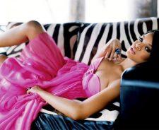Animal Print Sofa Pink Dress Girl Ring