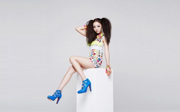Asian Girl Sexy Legs Dress Blue Heels