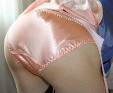 Asian Satin Panties Ass