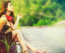 Asian Tits Heels Legs Monster Beats Doctor Dre Studio Girl Headphones Road