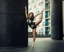 Ballerina On Tiptoe Strong Legs Girl Dance Pose
