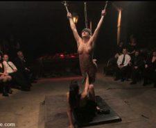 Bdsm women hung by tits