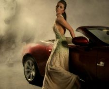 Beautiful Babe Standing With Car