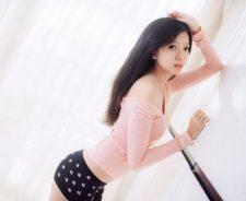 Beauty Brunette Asian Girl Model Sexy Panties Look