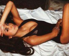 Bed Model Brunette Sexy Body