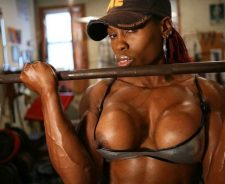 Big Black Female Bodybuilder Workout
