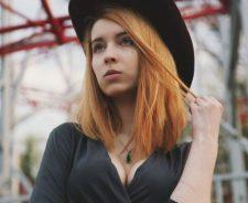 Big Tits Redhead Large Hat