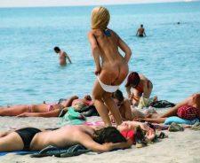 Bikini Girl Butt Swimming