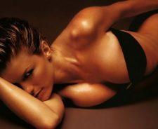 Black Bikini Girl Laying