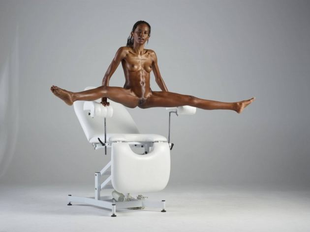 Black Girl Exercising Nude