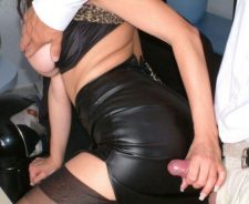 Black Leather Skirt Office Sex
