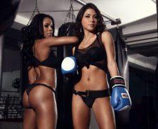 Black Lingerie Chandella Powell And Arianny Celeste Ring Girls Ufc