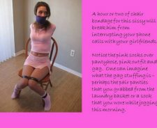 Bound And Gagged Sissy Captions