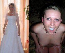 Bride Dressed Undressed Before After