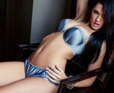 Brittani Jayde Model Brunette Chest Abdomen Piercing Sexy Lingerie