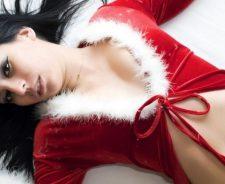 Brunette Piercing Lingerie Christmas