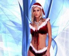 Christmas Hot Bikini Model Blonde