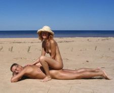 Couples Posing Naked Beach