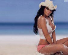 Cute Babe Wearing Cowboy Hat