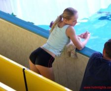 Cute Tiny Little Teen Girl Tight Shorts Candid