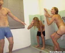 Dare Dorm College Girls Peeing In Urinal