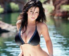 Denise MIlani Black Bikini River
