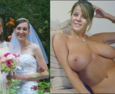 Dressed Undressed Nude Brides Before And After