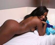 Ebony Booty On Bed Nude