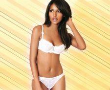 Emanuela De Paula White Bikini Sexy Pose