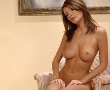 Erotic Nude Sexy Model Brunette