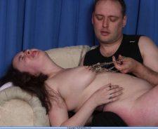 Extreme Nipple Clamp Pain