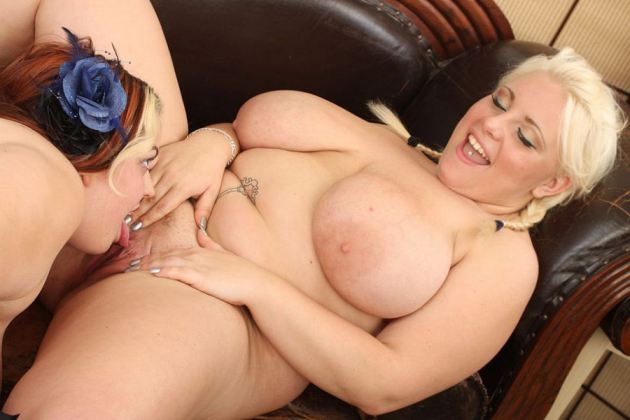 Fat Girl Lesbian Licking Pussy