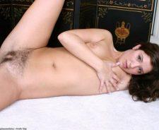 Flashing Her Hairy Bush