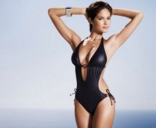 Girl In Black Swimsuit