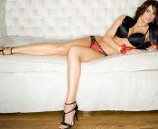 Girl Laying In Bikini In Bed