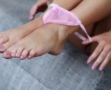 Girl Legs Pink Panties Pussy