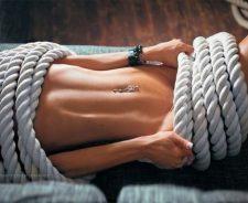 Girl Model Naked Rope Mood