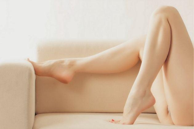 Girl Model Sexy Legs Sofa Mood