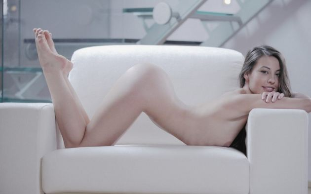 Girl Naked Sofa