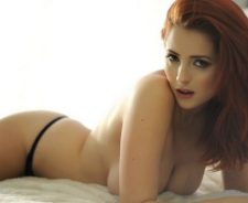 Girl Redhead Lucy Collett Nude Big Boobs In Bed