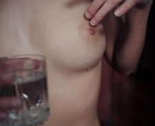 Girl Tits Nipples Water