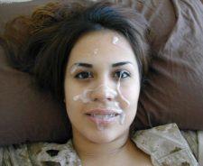 Girl With Braces Cum Facial